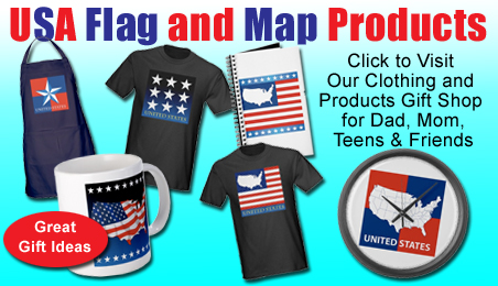 usa flag and map gift products for him, her, teens, tshirts, clocks, mugs