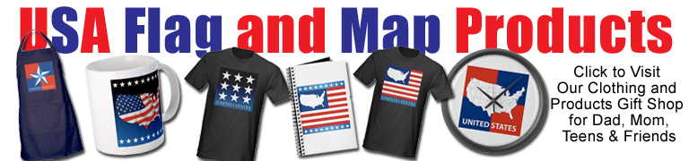 Map and Flag gifts and products for dad, mom, teen, friends and family