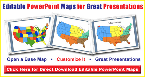 editable world regional powerpoint maps, europe, africa, middle east, south america