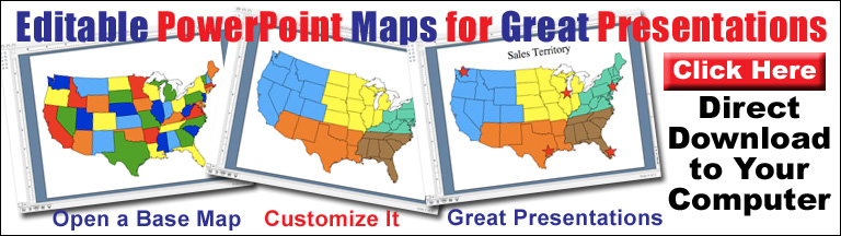 editable powerpoint maps for presentations, usa, states, canada, world
