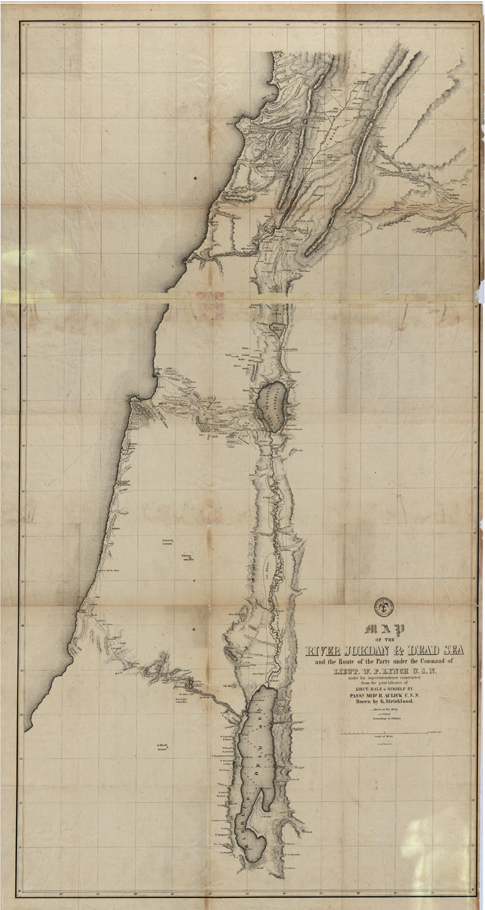 Dead Sea, Jordan, 184- Map, Middle East, Bible, Royalty Free jpg
