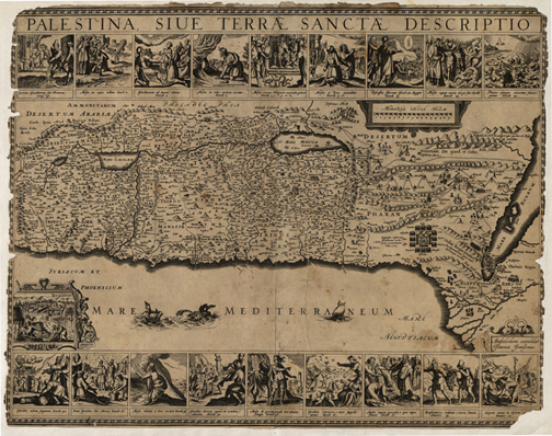 Palestine 1650 Antique map Royalty Free