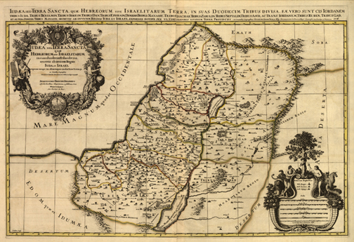 Palestine 1696 map royalty free, jpg
