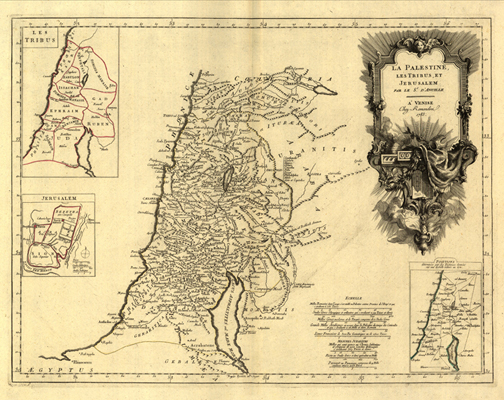 palestine 1783 map, royalty free jpg