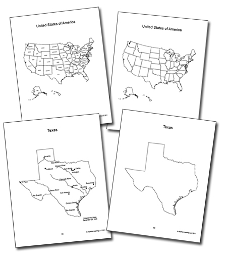 Usa Maps, state maps, coloring geography book