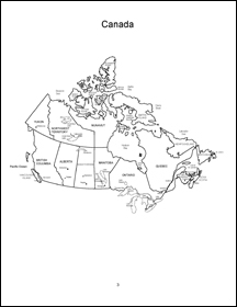 Canada map, with text, blank, outline