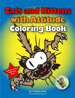 cats and kittens attitude coloring book