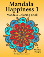 Mandala Happiness coloring book, adult coloring book