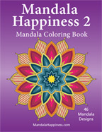 Mandala Happiness 2 adult coloring book, adult coloring book