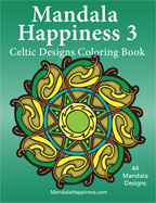 Mandala happiness Adult Coloring Book, Celtic Designs