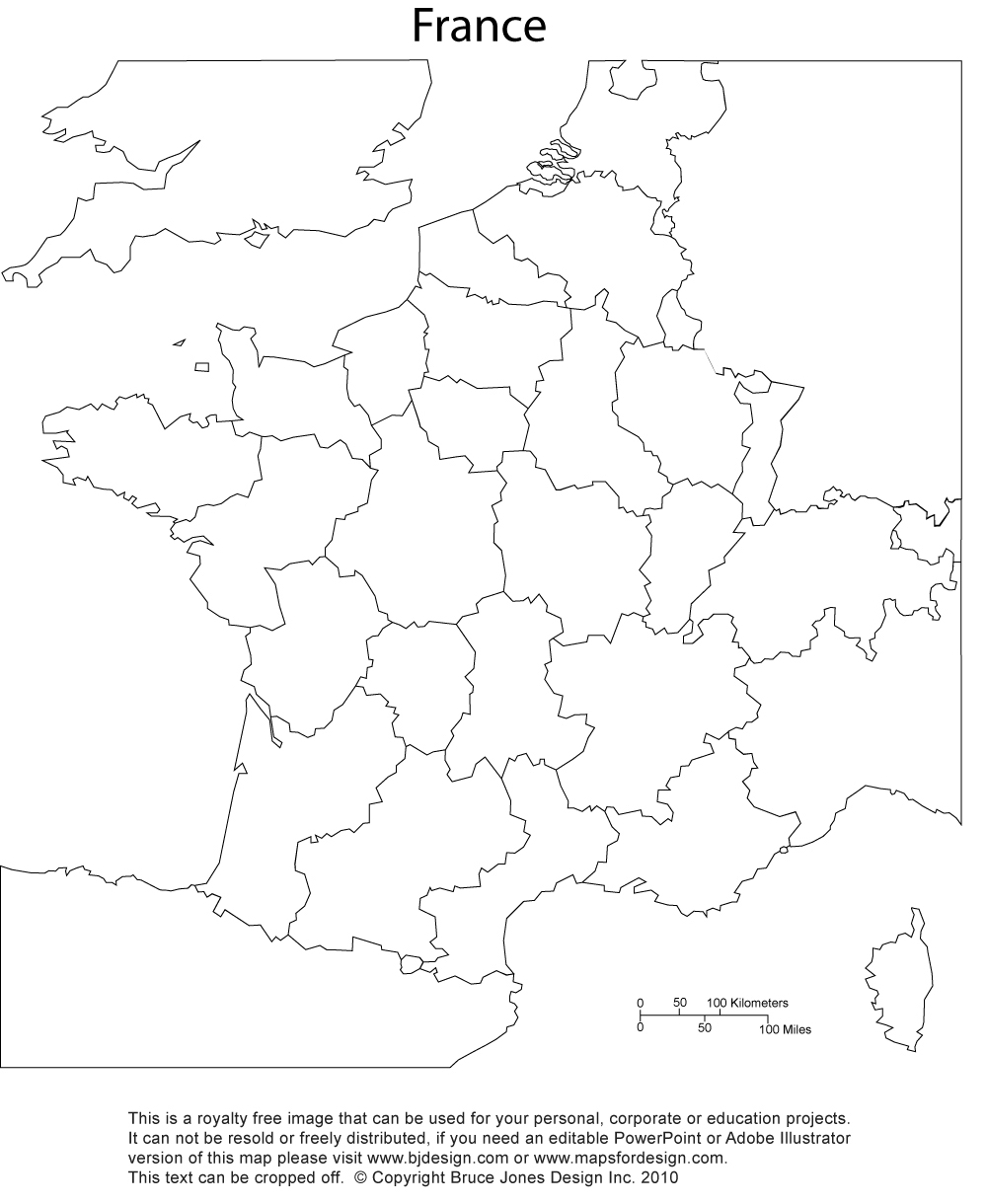 France printable, blank map of provinces, royalty free, clip art