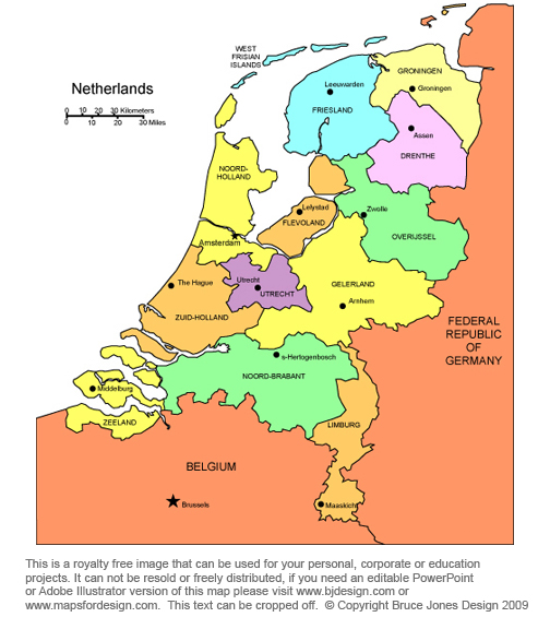 Netherlands map, Amsterdam, europe royalty free, jpg