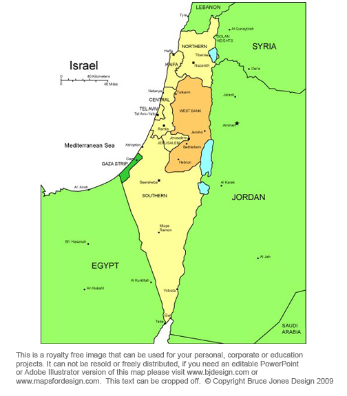 Israel Map, Middle East, royalty free, jpg
