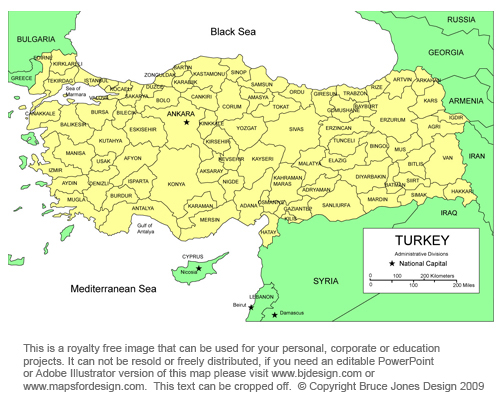 Turkey Map Middle East Country, Royalty Free, jpg