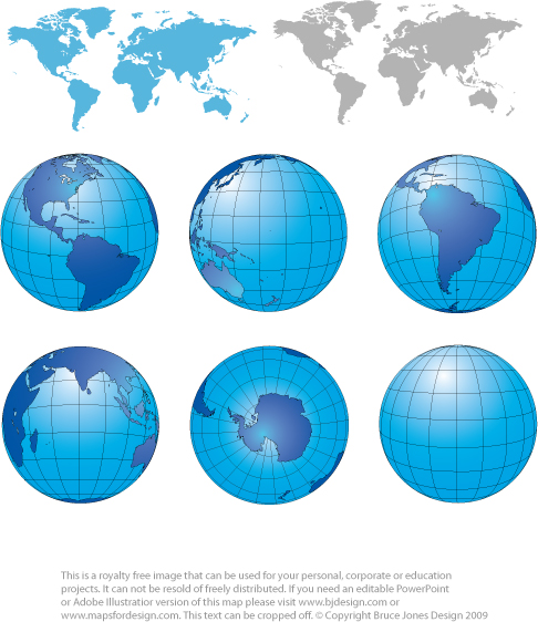 World Projects and Globe Maps North and South America, India ocean, South Americaroyalty free, jpg