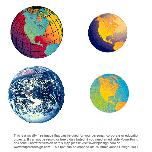 Various Global maps, Earth