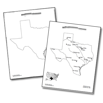 texas sample usa pdf individual state map