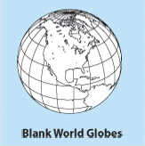 Blank, Printable, Outline, World Globe maps