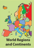 world regional maps, color, europe, africa, asia, americas, downloadable