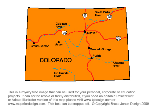 Colorado State Map For Kids Bnhspine Com