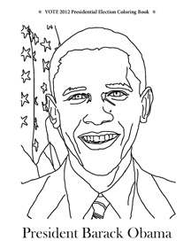 Vote 2012 Presidential Election Coloring Book