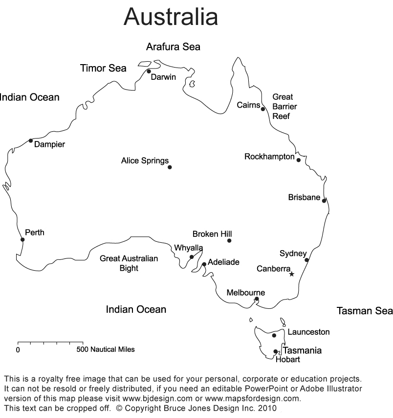 Map Of Australia With States And Capitals.Australia Printable Blank Maps Outline Maps Royalty Free