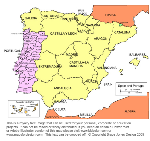 Printable Map Of Spain.Free Maps Of European Countries Printable Royalty Free Jpg You Can